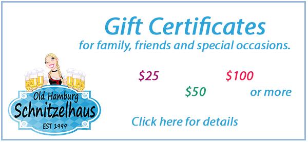 gift certificate old hamburg schnitzelhaus