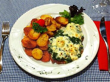 Spinach Gratin Schnitzel