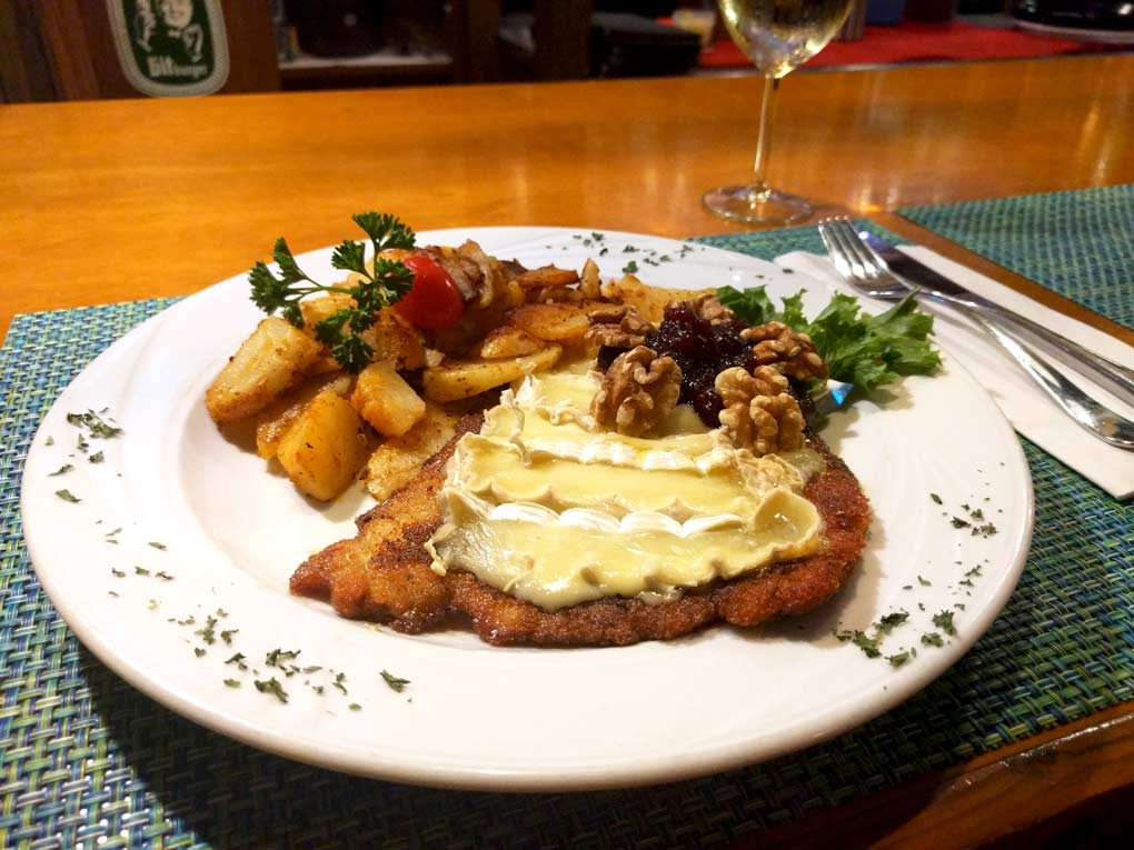 Brie Schnitzel with Walnuts and Cranberries